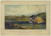 Explosion Of The Alfred Thomas At Easton Pa. March 6th 1860  / Sketch From Nature By J. Queen ; Printed In Oil Colors By P.s. Duval & Son, Phila. Image