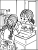 Clipart Of Girl Washing Face Image