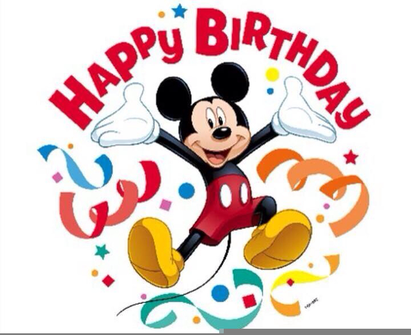 Disney Clipart Birthday Baby Mickey Mouse Party