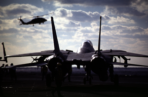 F-14 On Flight Deck Image