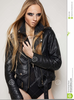 Black Leather Jacket Clipart Image