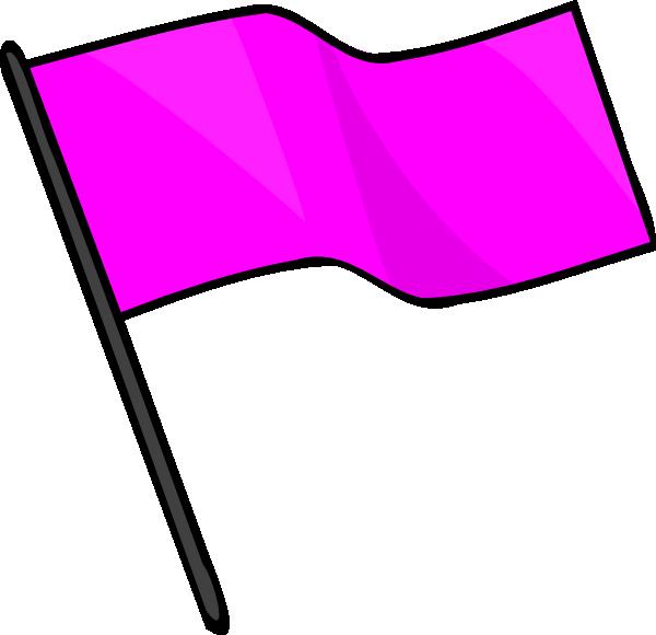 Pink Flag Clip Art at Clker.com - vector clip art online, royalty free ...