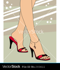 Foot And Shoes Vector Image