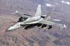 U.s. Navy F/a-18 Prepares For Aerial Refueling. Image