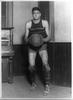 [john Loebler, Center On George Washington University Basketball Team, Standing, Full-length Portrait, Holding Basketball] Image