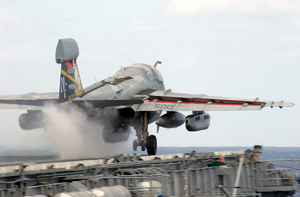 E-a6b Prowler Launches From Uss Kitty Hawk Catapult One. Image