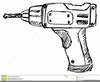 Cordless Drill Clipart Image
