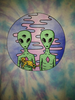 Trippy Alien Drawing Image