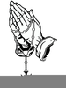 Clipart Prayer Hands With Rosary Image