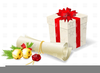 Free Red Scroll Clipart Image