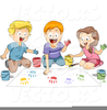 Clipart Of Children Painting Image