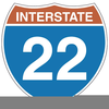 Interstate Road Sign Clipart Image