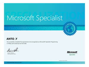 Microsoft Specialist Ms Image