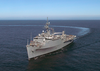 The Austin-class Amphibious Transport Dock Ship Uss Duluth (lpd 6), Underway Off The Coast Of San Diego, Calif. Image
