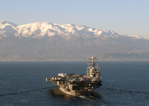 Uss George Washington (cvn 73) Enters Souda Bay, Crete, Greece For A Port Call. Image