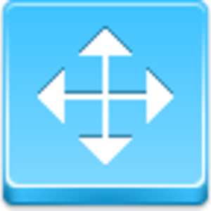 Free Blue Button Icons Cursor Drag Arrow Image