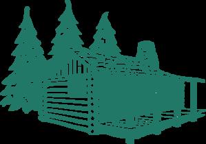 Log Cabin Clip Art At Clkercom Vector Clip Art Online Royalty - Cabin clip art free