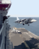 The Air Boss Watches As The Last Av-8b  Harrier  From Helicopter Medium Squadron Two Six Six  (hmm-266) Lands On Board Uss Nassau  Following A Strike Mission Into Kosovo. Clip Art