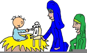 Free Baby Jesus Clipart Image