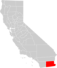 California County Map Imperial County Highlighted Clip Art