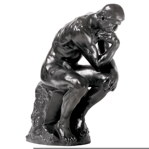 rodin thinker clipart free images at clker com vector clip art