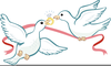 Doves And Hearts Clipart Image