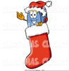 Red Stocking Clipart Image