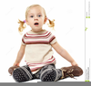 Children Sitting On The Floor Clipart Image