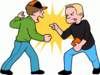 Boy Friends Clip Art Fighting Image