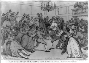 The Gig Shop Or Kicking Up A Breeze At Nell Hammiltons Hop  / Rowlandson, Del. Image