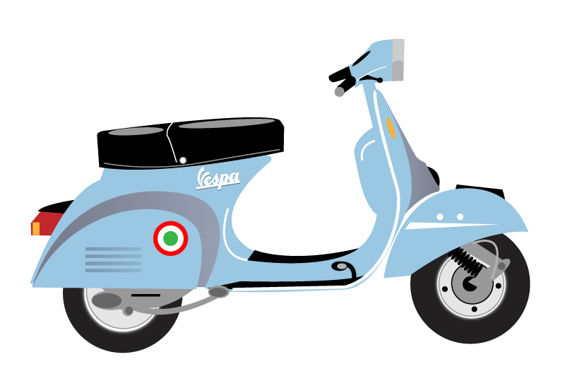 Vespa Scooter Clip Art