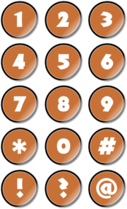 Number Icons Clip Art