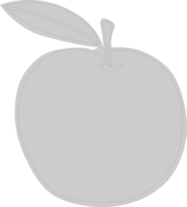 Gray Apple Clip Art
