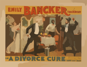 Emily Bancker In A Divorce Cure From The French Of Sardou By Harry Saint Maur. Clip Art