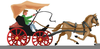 Christmas Horse And Sleigh Clipart Image