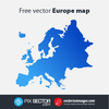 Free Clipart Map Of Europe Image