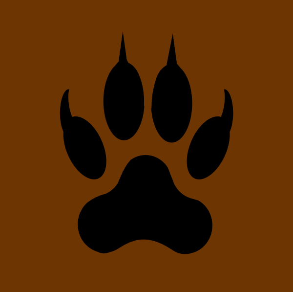 tiger tracks clip art - photo #18