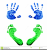 Baby Handprints And Footprints Clipart Image