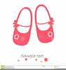 Pink Baby Shoes Clipart Image