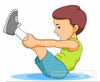 Free Stretching Clipart Image