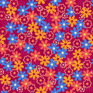 Daisy Flowers Seamless Repeat Pattern Vector Image