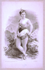 [woman In Burlesque Costume In Front Of Rocky Outcrops] Image