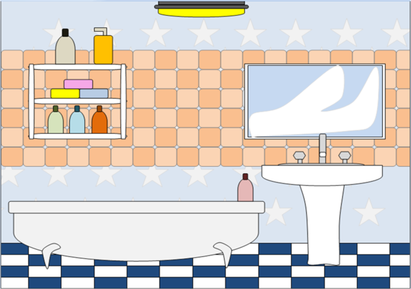 Bathroom 2 | Free Images at Clker.com - vector clip art ...