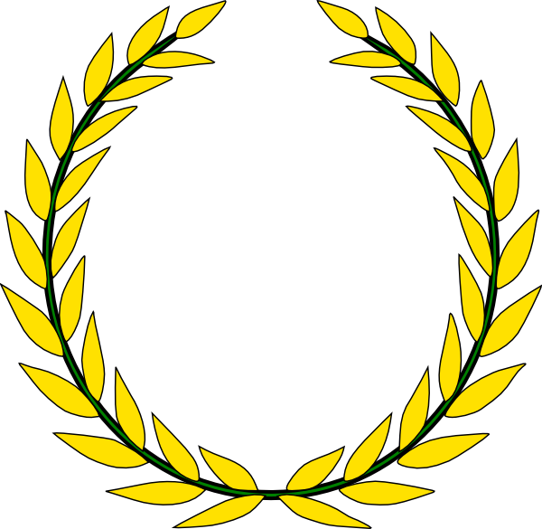 Gold Olive Wreath Clip Art At Clker.com