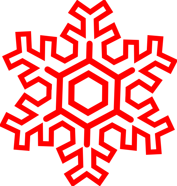 Red Snowflake Clip Art at Clker.com - vector clip art ...