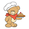 Country Cookbook Clipart Image