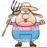 Farmer With Pitchfork Clipart Image