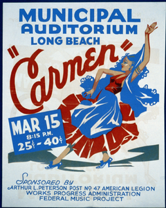 Carmen  Municipal Auditorium, Long Beach. Image