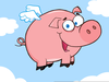 Animated Flying Pig Clipart Image