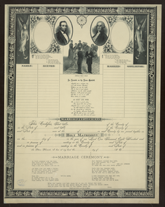 Marriage Certificate [and Family Register] Image